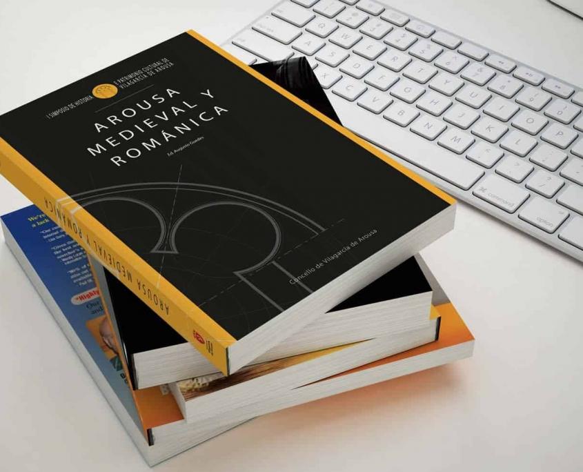 Diseño y maquetación Libro Arousa Medieval y Románica