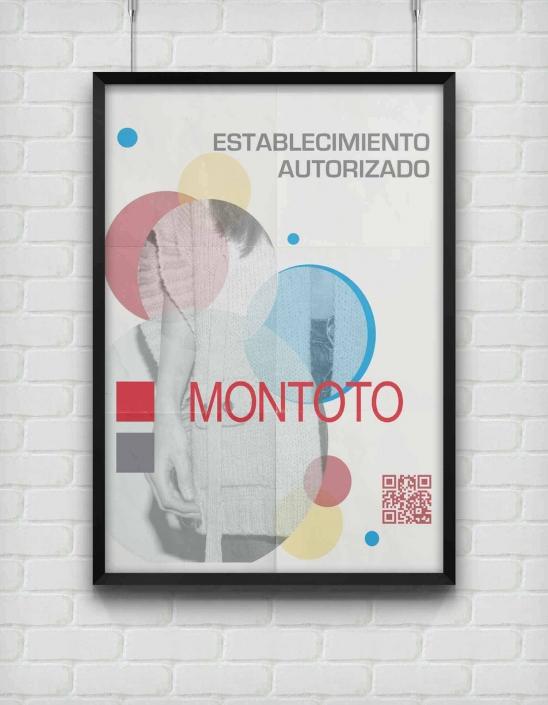 Cartel publicitario para Montoto