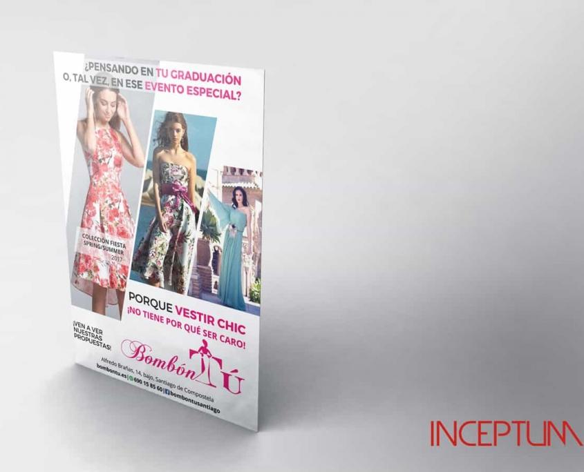 Flyer para publicidad de tienda de moda