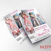 Flyer para publicidad de tienda de moda y complementos